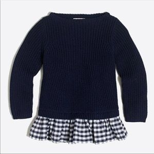 J. Crew Ruffle Hem Sweater